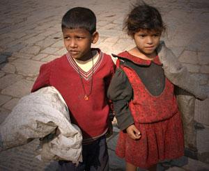 Street Children volunteer